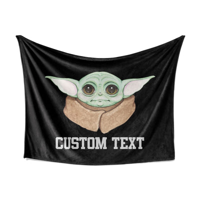 "Baby Yoda  ""Grogu"" Throw Blanket - artistvsart"