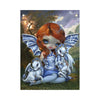 Blue Willow Dragonlings - Fabric Banner