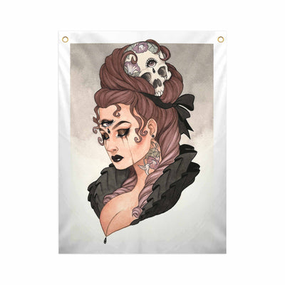Mourning Glory - Fabric Banner