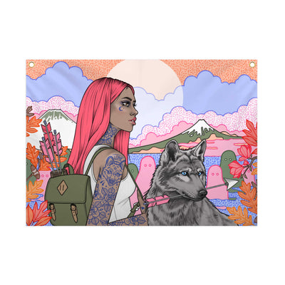 Copy of The Woods - Fabric Banner - artistvsart