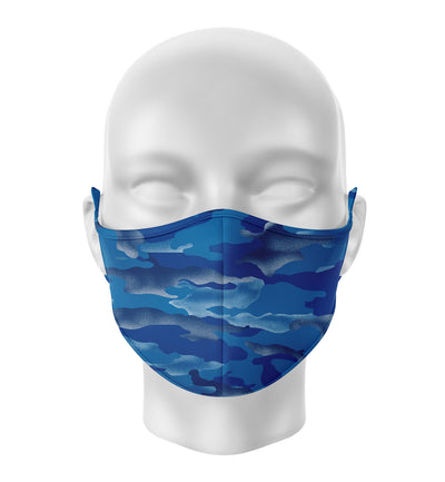 Face Mask | Blue Camo