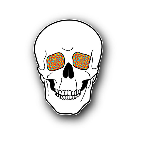 Trippy Skull Sticker