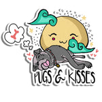 Pugs and Kisses Sticker
