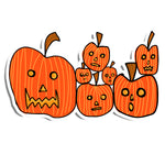 Spooky Pumpkin Patch Sticker