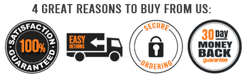 Great reasons to buy from us 100% satisfaction guaranteed easy returns secure ordering 30 day money back guarantee