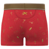 Martini Shaker Print Trunk in Red with Gold Foil