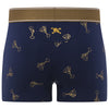 Martini Print Trunk in Blue with Gold Foil