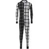 Black & White Plaid Union Suit
