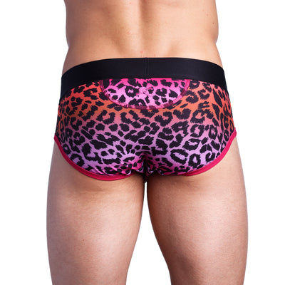 Ombré  Leopard Print Brief
