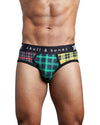TRI COLOR PLAID BRIEF