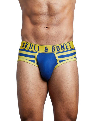 TEAM SKULL & BONES BRIEF BLUE-briefs-Skull & Bones, Inc.