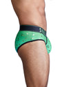 Green Ombre Foil Logo Brief