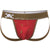 Martini Shaker Print Jock in Red with Gold Foil