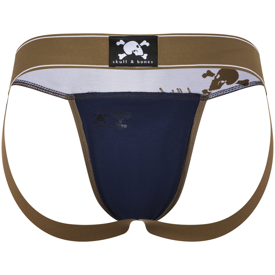 Martini Print Jock in Blue with Gold Foil