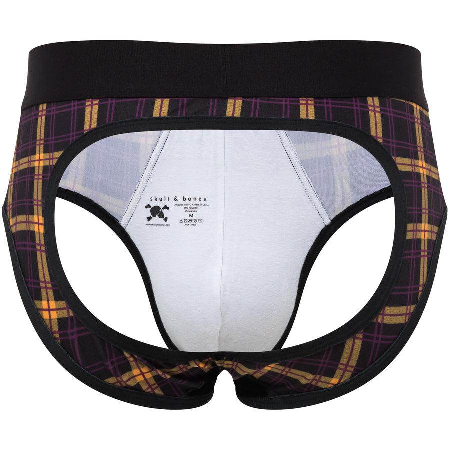 Multi Plaid Peek-A-Boo Brief