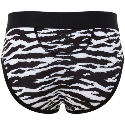 Tiger Print Brief in Black & White