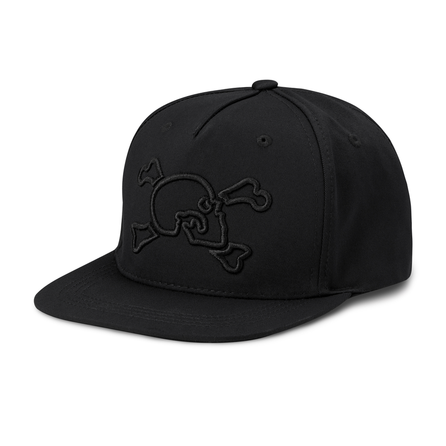 Black Logo Outline Hat