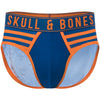 Team Skull & Bones Brief in Blue & Orange