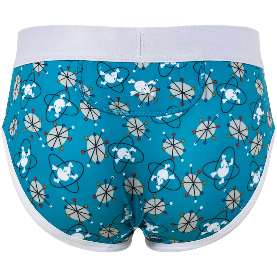 Mid-Century Modern Print Brief in Blue