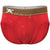 Martini Shaker Print Brief in Red with Gold Foil