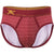 Geo Print Brief in Red