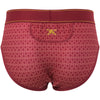 Geo Print Brief Red