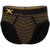Geo Print Brief in Black with Gold Foil