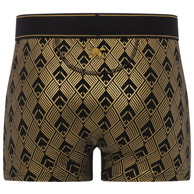 Art Deco Trunk in Black with Gold Foil