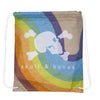 Heather Rainbow Drawstring Backpack
