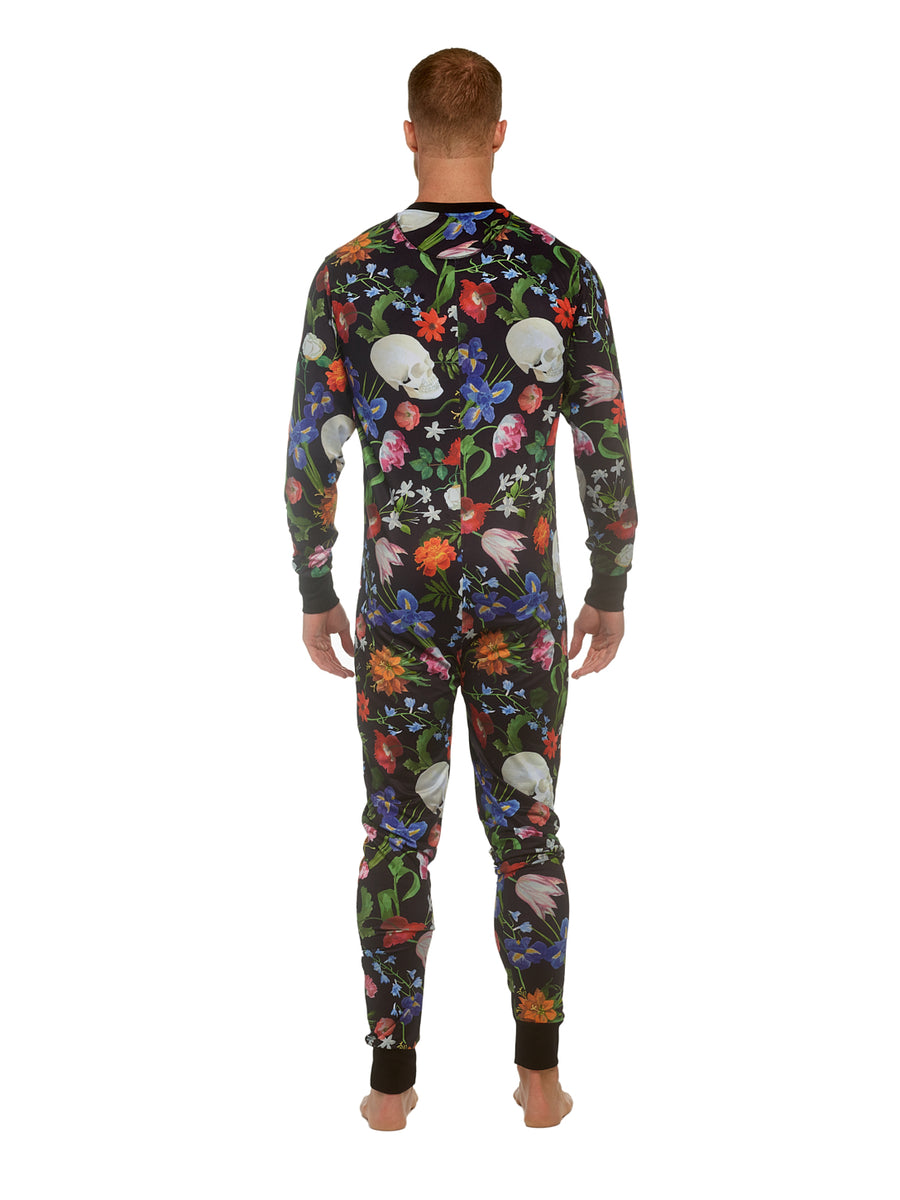 Hand-Painted Dutch Floral Union Suit