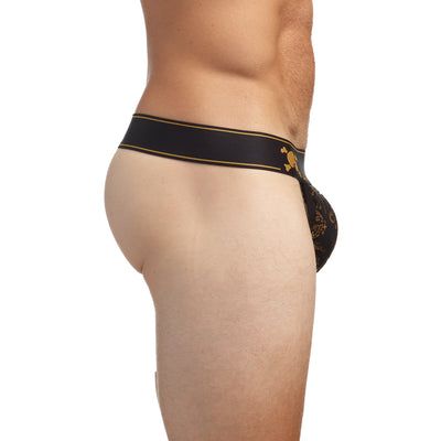 Champagne Bubbles Thong in Gold Foil