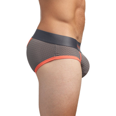 Performance Mesh Brief Grey