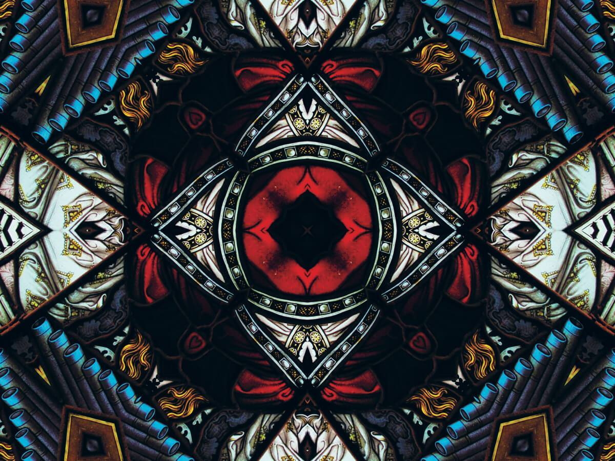 A kaleidoscope type pattern