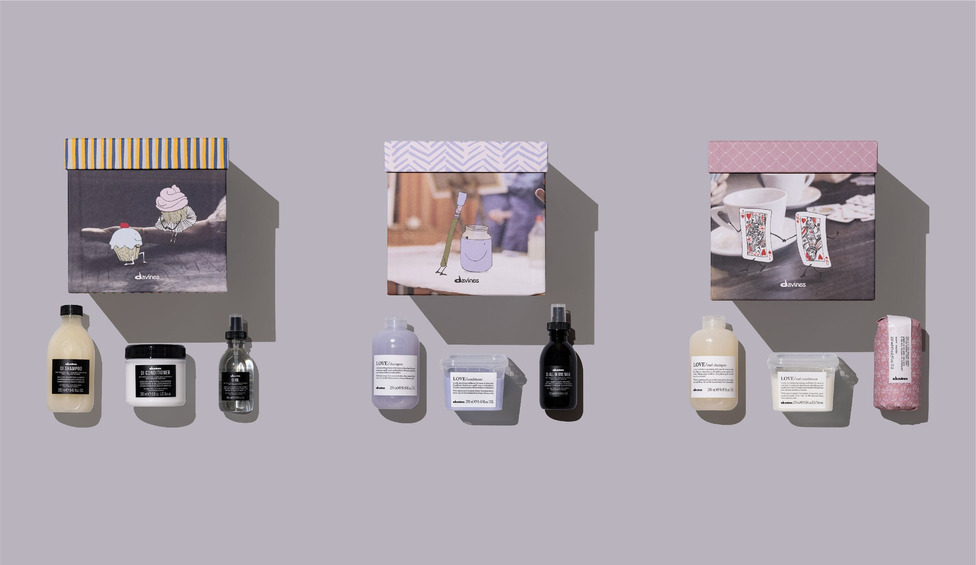 Davines holiday sets at your local salon