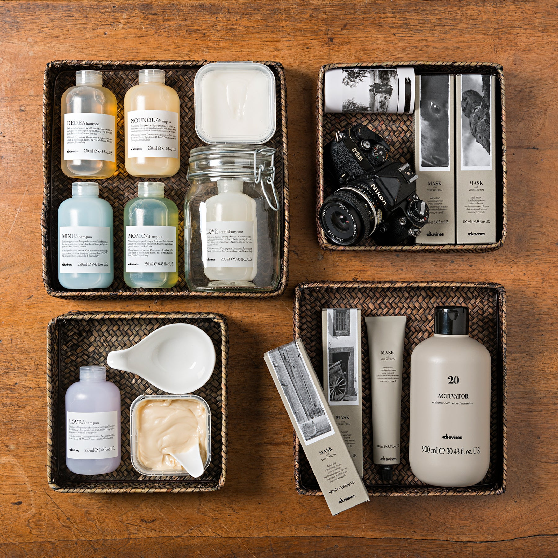 image of davines hair care products in 4 boxes