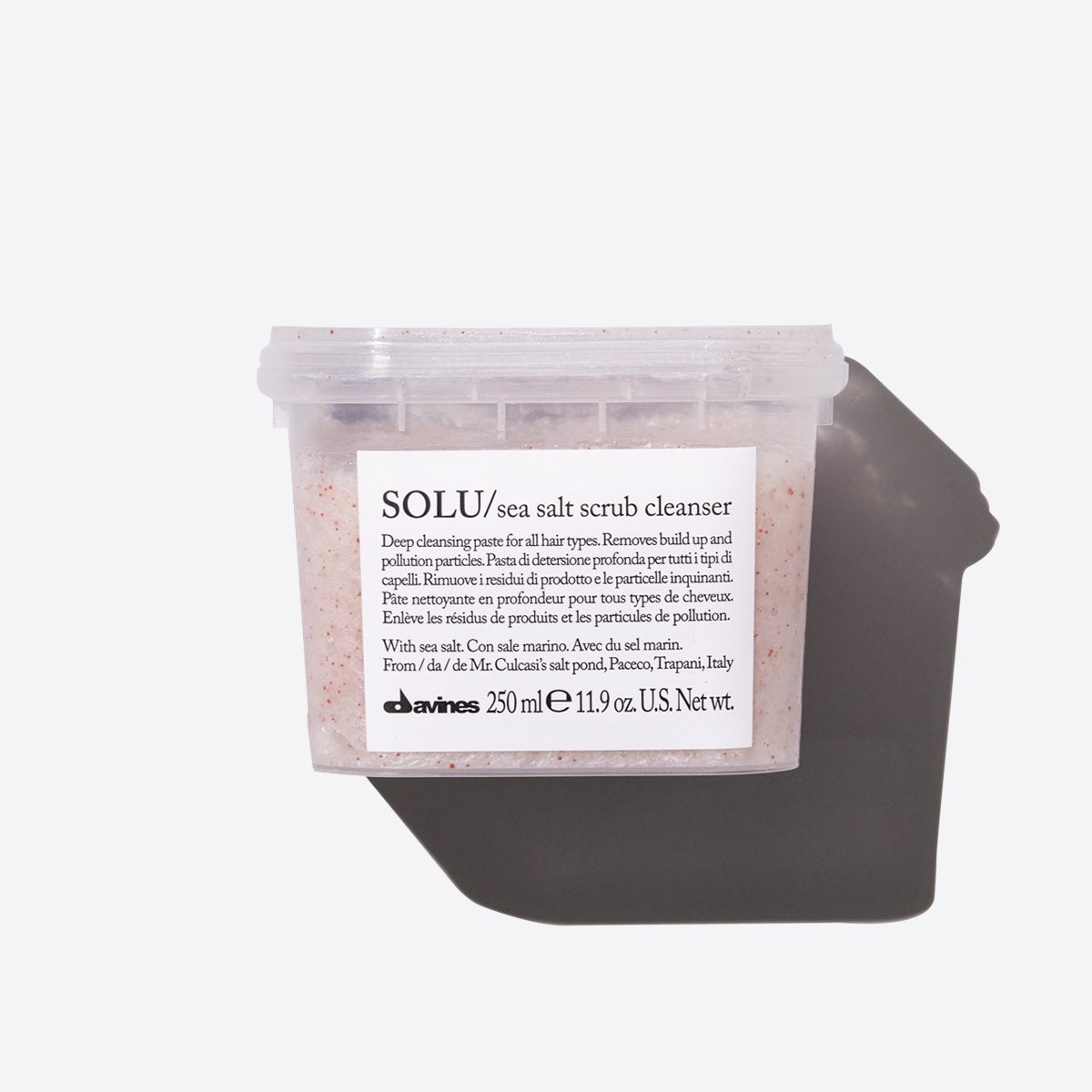 SOLU Sea Salt Scrub Cleanser 1  250 ml / 8,45 fl.oz.Davines