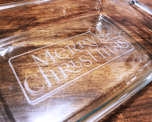 READY TO SHIP Merry Christmas Casserole Dish