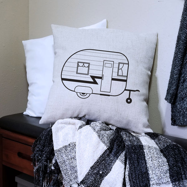 Linen Camper Pillow Cover