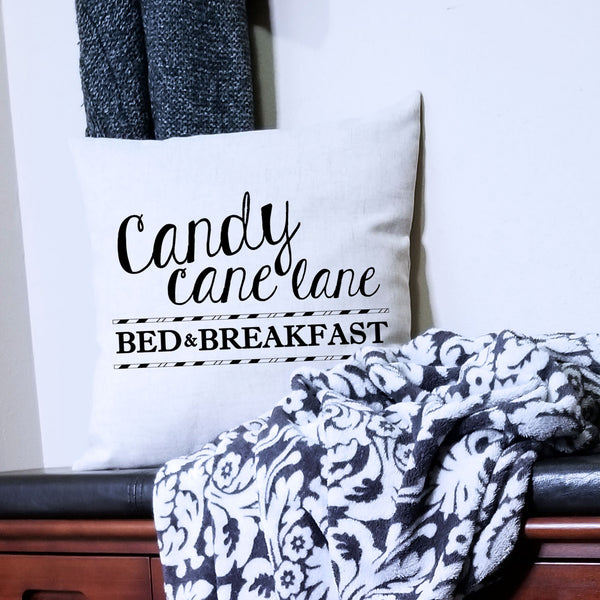 Candy Cane Lane Bed & Breakfast Pillow