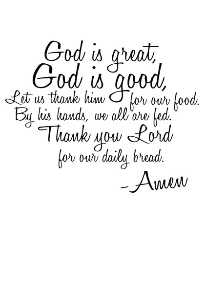 God is Good, God is Great Prayer