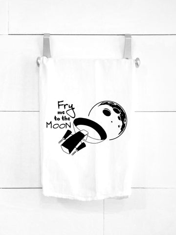 SALE! Fry Me to the Moon Tea Towel