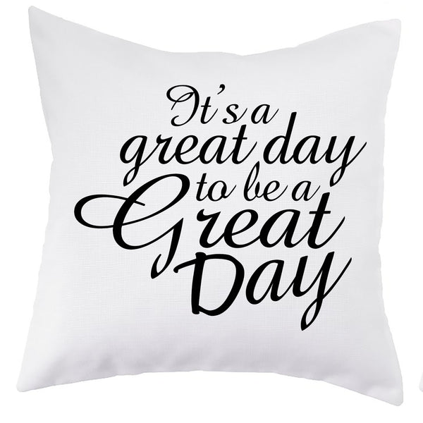Linen Great Day Pillow Cover