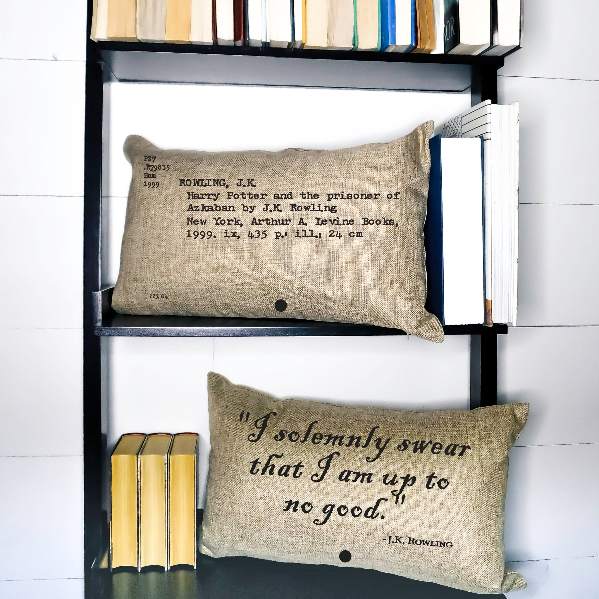 Harry Potter and the Prisoner of Azkaban Card Catalog Pillow Cover
