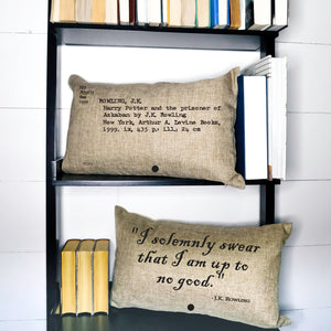 READY TO SHIP Harry Potter and the Prisoner of Azkaban Card Catalog Pillow Cover