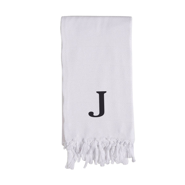 Custom Initial Turkish Hand Towel