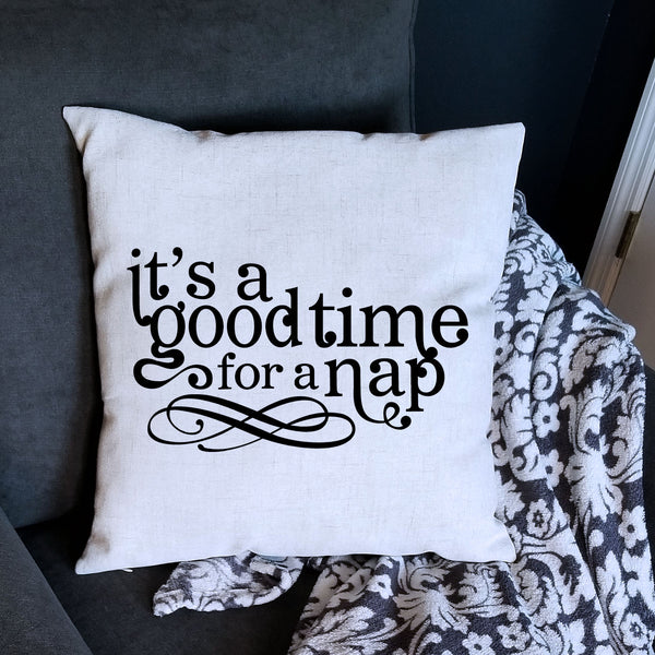 Linen Nap Time Pillow Cover