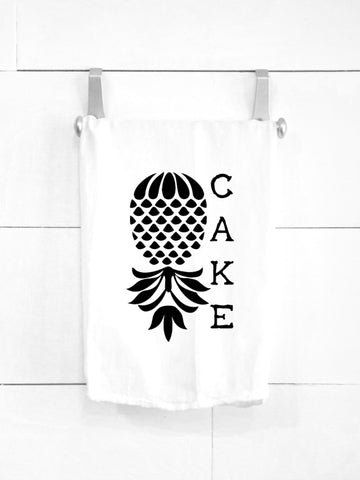 SALE! Pineapple Upside Down Cake Tea Towel