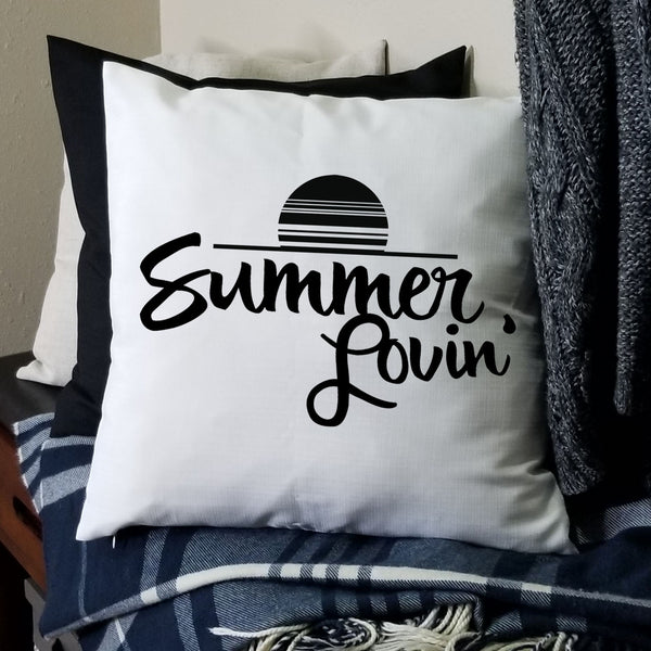White Summer Lovin Pillow Cover