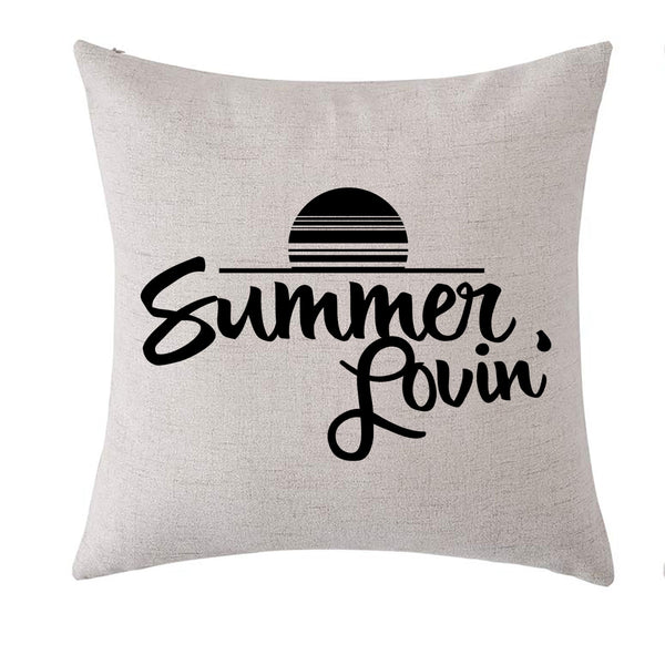 Linen Summer Lovin Pillow Cover