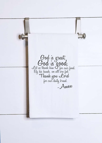 God is Good, God is Great Prayer Tea Towel